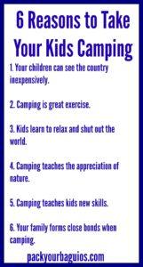 6 Reasons to Take Kids Camping