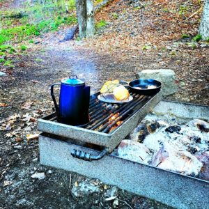 Nothing tastes better that a campfire breakfast!
