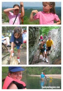 Camping Exercise Collage