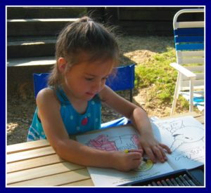 Camping and Coloring