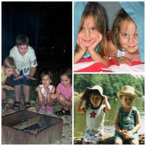Kids camping bonding