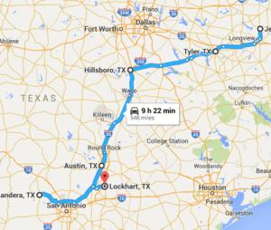 Texas Road Trip Route