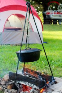 dutch oven with tripod