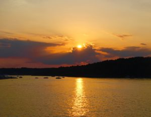 Viewing the sunset from one of the many lake bluffs is a must-do!