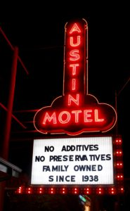 Iconic Austin Motel Sign