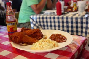 2-piece dark-meat dinner with slaw and baked beans