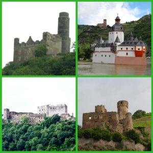 We passed over 25 castles on our route!