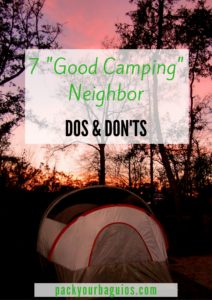 7 Good Camping Neighbor Dos & Don'ts