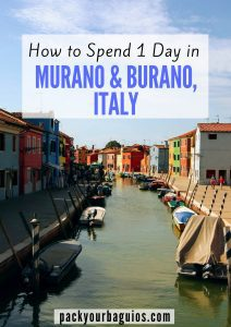How to Spend 1 Day in Murano & Burano, Italy