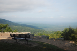 Hiking the Rim Trail on Mount Nebo, Arkansas