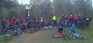 Group picture of 28th Annual OORC night ride